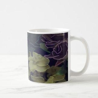 プラム花柄 コーヒーマグカップ