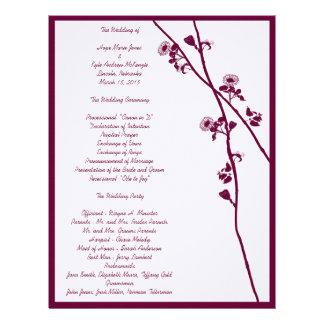 プラム野生花はプログラム結婚式分岐します レターヘッド