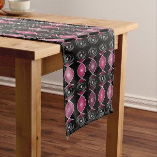 プラムRoyaleの綿のテーブルのランナー ショートテーブルランナー