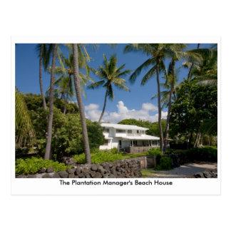 プランテーションマネージャーのビーチハウス ポストカード