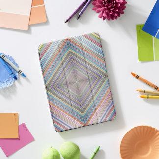 プリズム幾何学的なダイヤモンドのストライプのオップアート iPad PROカバー