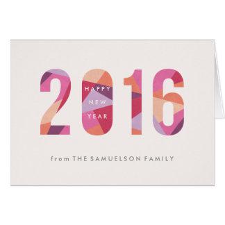 プリズム新年の年賀状-プラム グリーティングカード