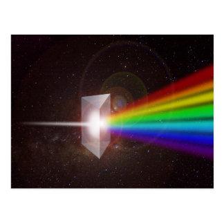 プリズム色スペクトル ポストカード