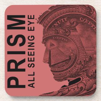 プリズム-すべての見る目-ラズベリー コースター