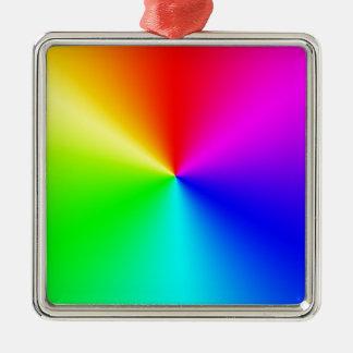プリズム シルバーカラー正方形オーナメント
