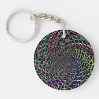 プリズムDNAの螺旋形の渦 キーホルダー