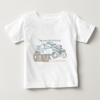 プリマスの塵払いの文字 ベビーTシャツ
