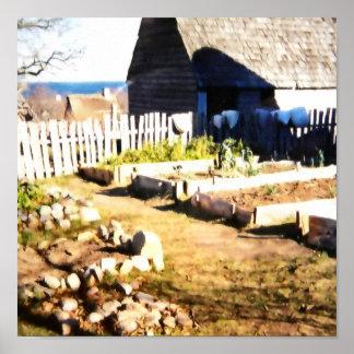 プリマスマサチューセッツのプリマスのプランテーション ポスター
