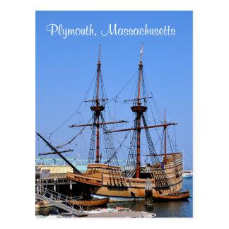 プリマスマサチューセッツMayflowerの船の郵便はがき ポストカード