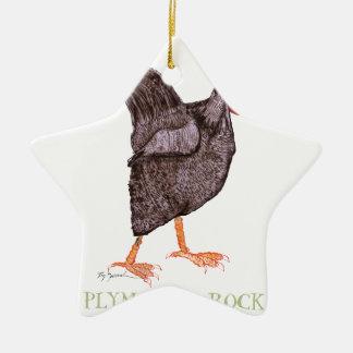 プリマスロックの雌鶏、贅沢なfernandes セラミックオーナメント