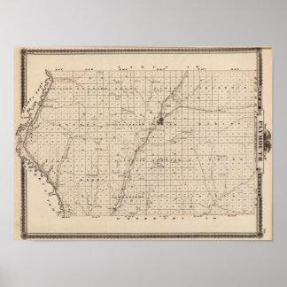 プリマス郡の地図 ポスター