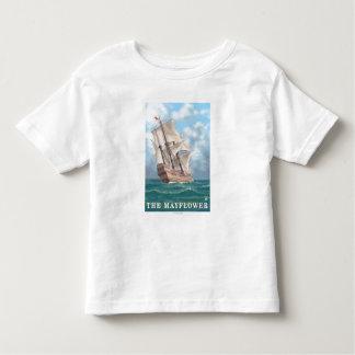 プリマス、MayflowerのMassachusettsView トドラーTシャツ