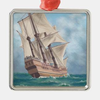 プリマス、MayflowerのMassachusettsView メタルオーナメント