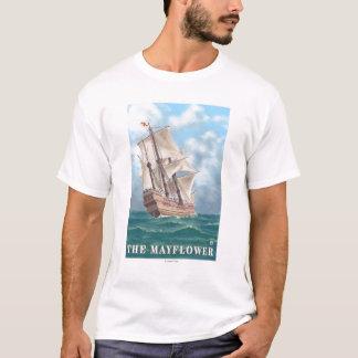 プリマス、MayflowerのMassachusettsView Tシャツ
