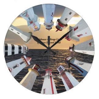 プリンス・エドワード・アイランドの時計の灯台及び範囲 ラージ壁時計