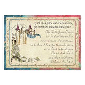 プリンセスのおとぎ話の招待状 カード