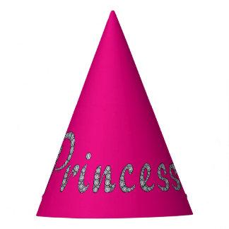 プリンセスのきらきら光るでカスタマイズ可能な背景色 パーティーハット