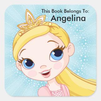 プリンセスのステッカーは、この本に、本のラベル属します スクエアシール