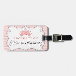 プリンセスのティアラの荷物のラベルの特性 ラゲッジタグ