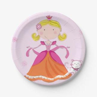 プリンセスのハッピーバースデーの紙皿 ペーパープレート