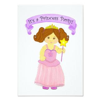 プリンセスのパーティの招待状カード カード