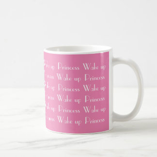 プリンセスのピンクの白いコーヒーMugeを目覚めて下さい コーヒーマグカップ