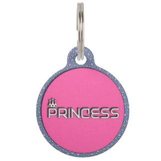 プリンセスのペット用名札 ペット ネームタグ