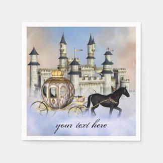 プリンセスの城のおとぎ話 スタンダードカクテルナプキン