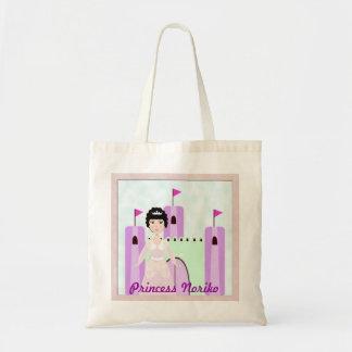 プリンセスの城のバッグの名前入りなアジア人 トートバッグ