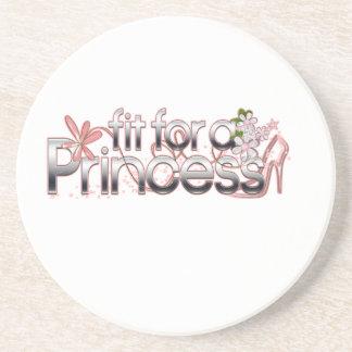プリンセスの女の子ガラスのスリッパのための適合 コースター