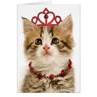 プリンセスの子ネコのバレンタインデーカード カード