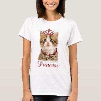 プリンセスの子ネコのTシャツ Tシャツ