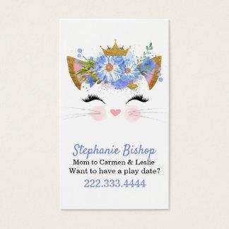 プリンセスの子猫のお母さんの演劇の日付カード 名刺