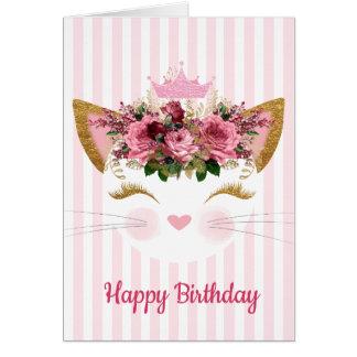 プリンセスの子猫のバースデー・カード カード