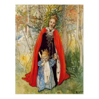 プリンセスの春の母および娘 ポストカード