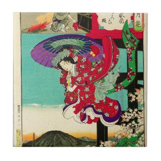 プリンセスの桜- Setsu GetsuのKa Toyohara Chikanob タイル