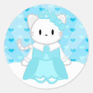 プリンセスの氷のステッカー ラウンドシール