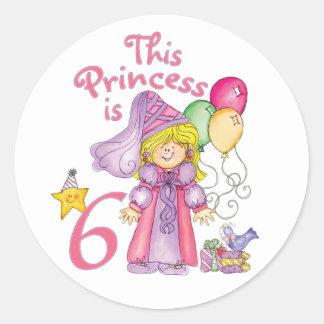 プリンセスの第6誕生日 ラウンドシール
