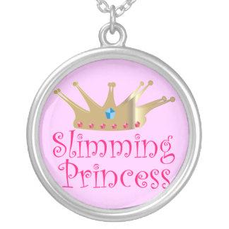 プリンセスの細く シルバープレートネックレス