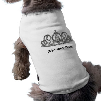 プリンセスの花嫁のティアラ 犬用袖なしタンクトップ
