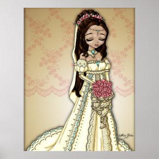 プリンセスの花嫁-暗いブルネット ポスター