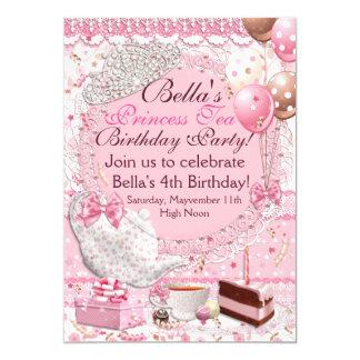 プリンセスの茶パーティの招待状 カード