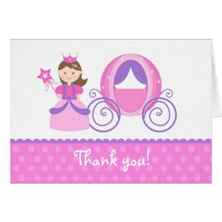 プリンセスの誕生会はメッセージカードの子供感謝していしています カード