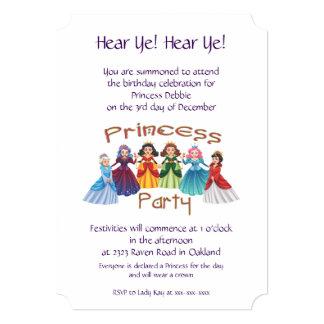 プリンセスの誕生会 12.7 X 17.8 インビテーションカード