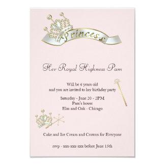 プリンセスの誕生日の招待状 8.9 X 12.7 インビテーションカード