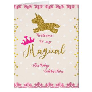 プリンセスの誕生日の挨拶状 カード