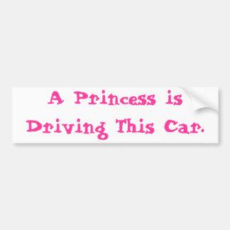 プリンセスの運転 バンパーステッカー