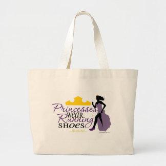 プリンセスは運動靴を身に着けています ラージトートバッグ