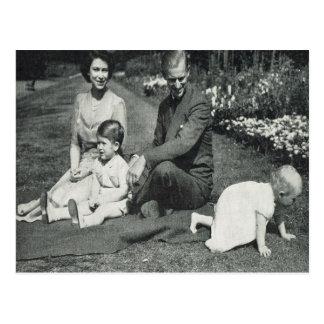 プリンセスエリザベスおよび家族1951年 はがき