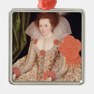 プリンセスエリザベスのジェームスI 1612年の娘 メタルオーナメント